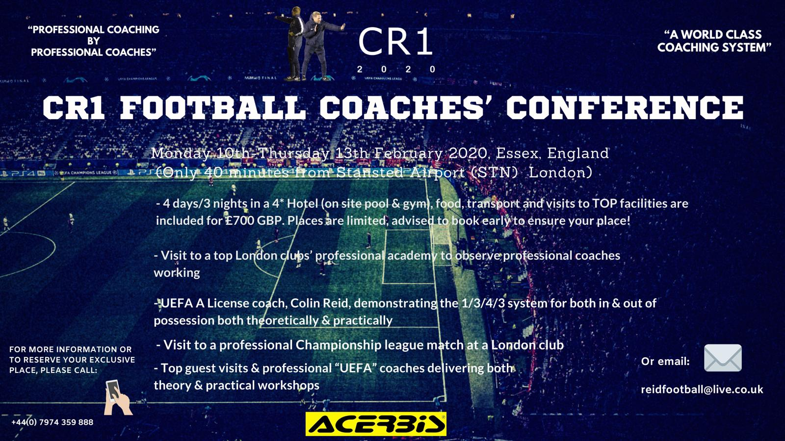 CR1 FOOTBALL COACHES' CONFERENCE 2020